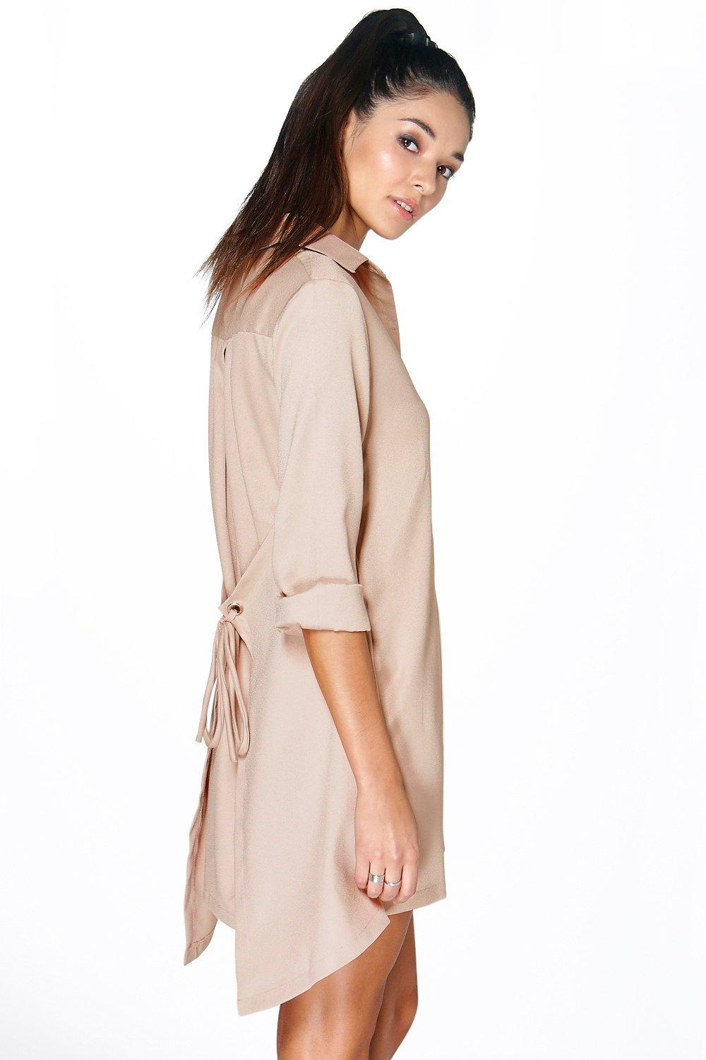 Andrada Tie Back Shirt Dress