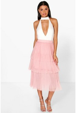 Iona Tiered Tulle Full Skirt