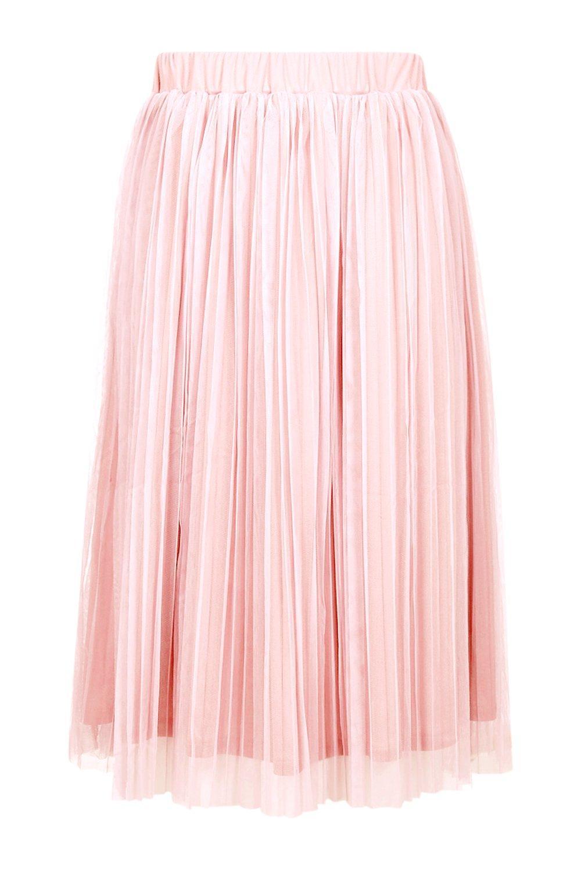 boohoo womens boutique pleated tulle midi skirt