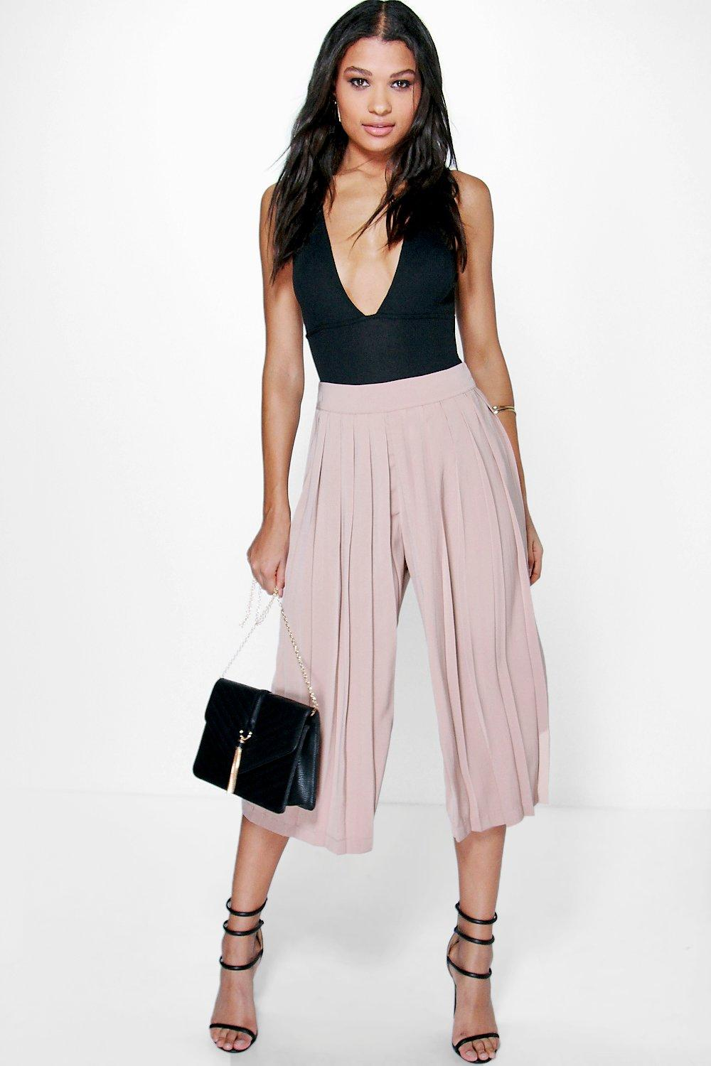 Zahara Pleat Front Tailored Culottes