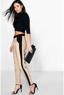Niah Contrast Side Panel Slim Fit Trousers