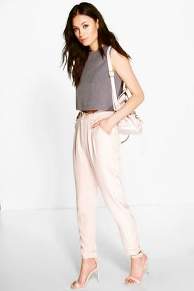 Harper Turn Up Pocket Detail Relaxed Trousers