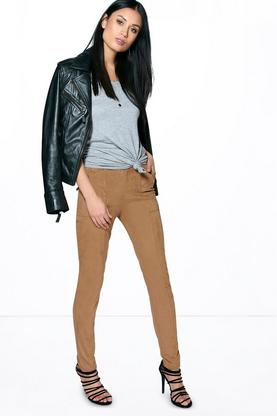 Aryah Super Skinny Suedette Trousers