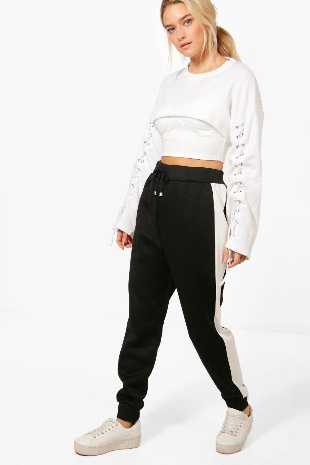 Maia Contrast Stripe Sweat Joggers