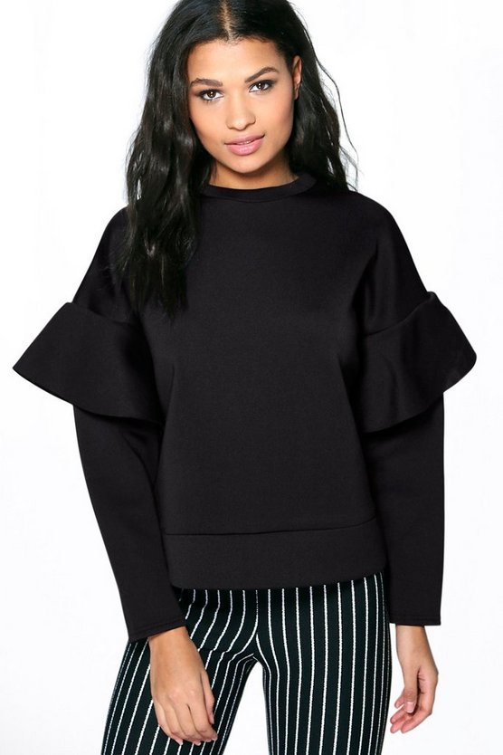 Poppy Ruffle Sleeve Sweater
