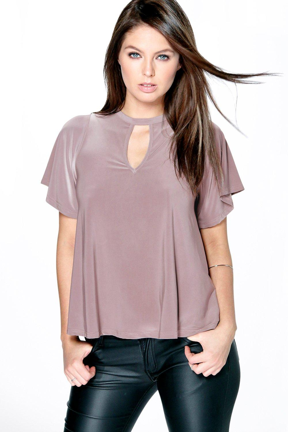 Brooke Cut Out Slinky Tee