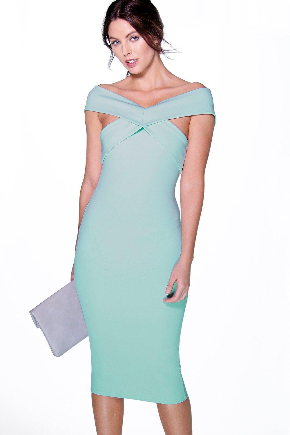 Cecily Panelled Cutaway Neckline Midi Dress