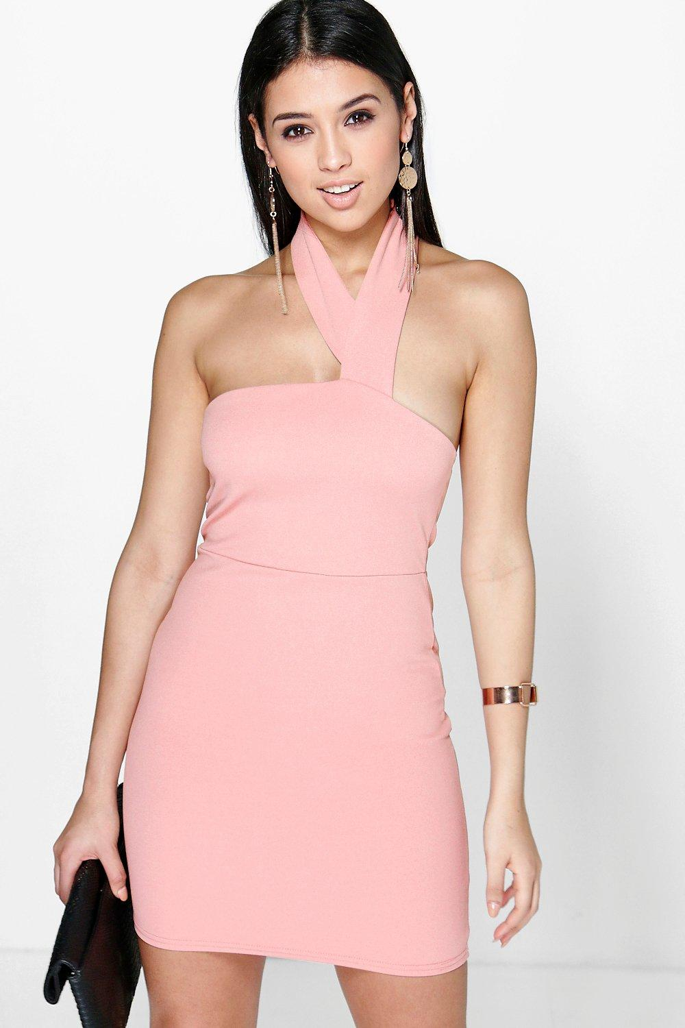 Vanessa Neck Strap Detail Bodycon Dress