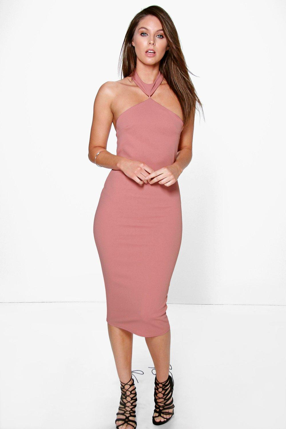 Serena Cutaway Neckline Detail Bodycon Dress