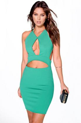 Jen Cut Out Strappy Bodycon Dress