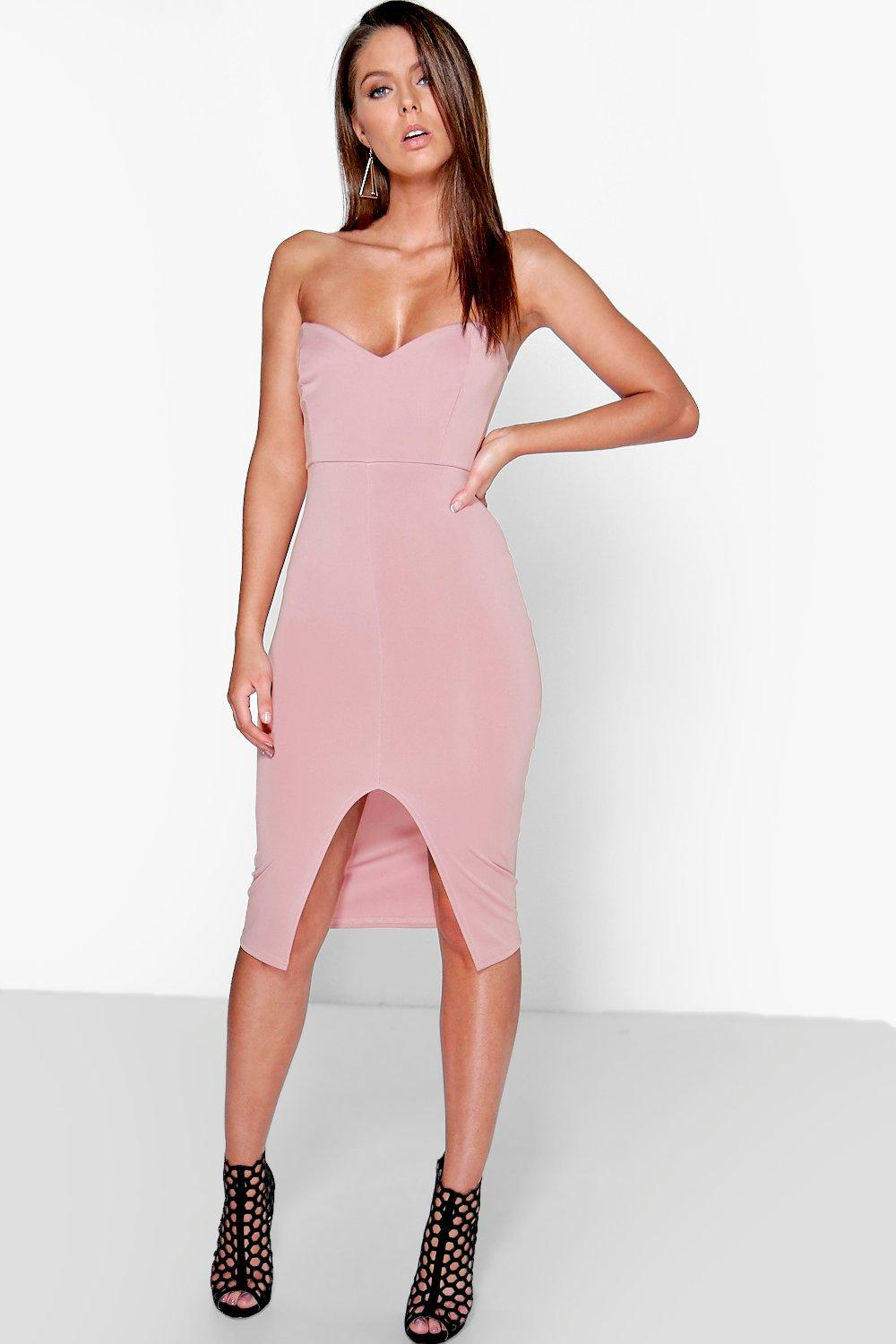 Claire Sweetheart Bandeau Midi Dress
