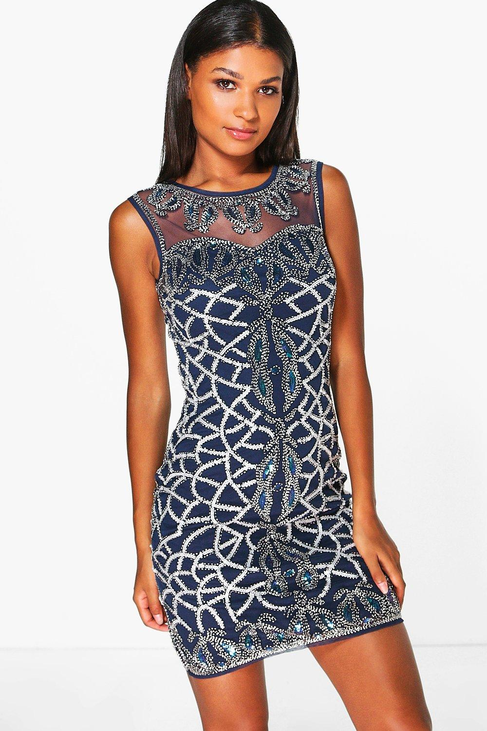 Boutique Rosie Embellished Bodycon Dress