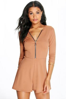 Grace Zip Detail Playsuit