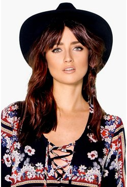 Heidi Ribbon Trim Fedora Hat