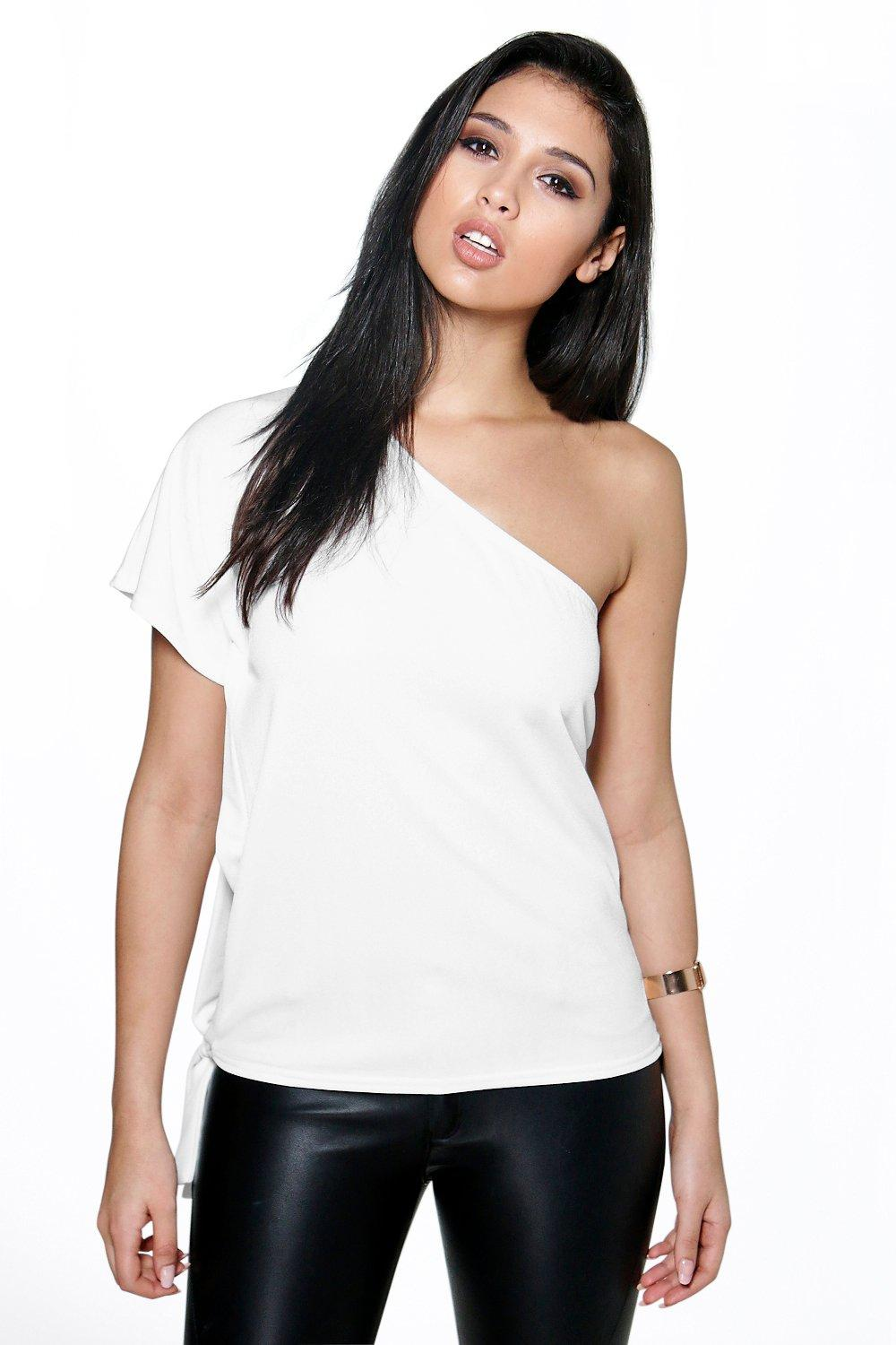 Mandy Open Side Tie Boxy Top