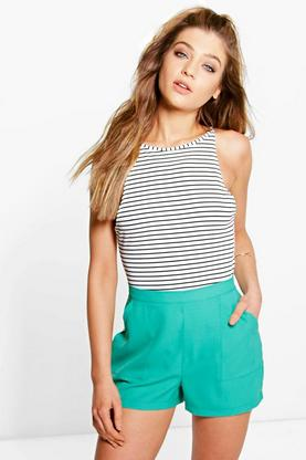 Lucy Patch Pocket Crepe Shorts