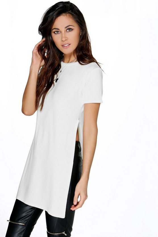 Isabella Oversized Split Side Tee