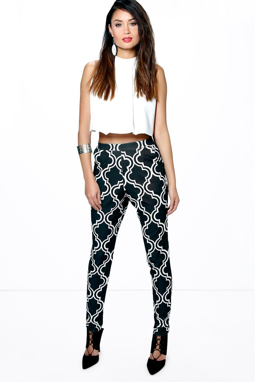 Monochrome Geo Skinny Trousers multi