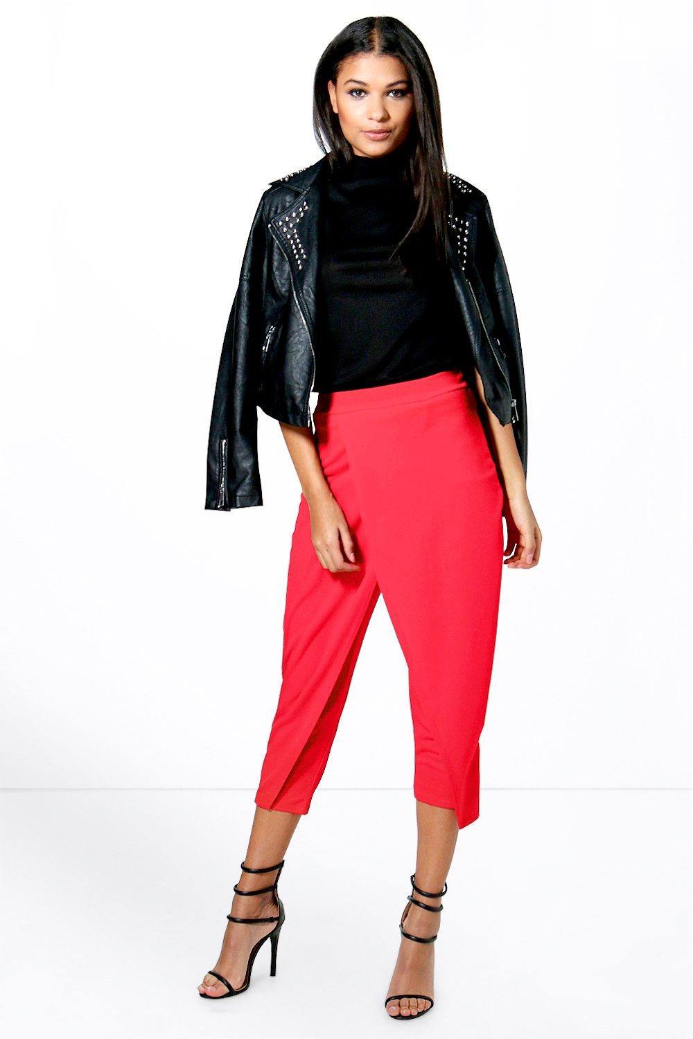 Evie Wrap Front Cropped Trouser