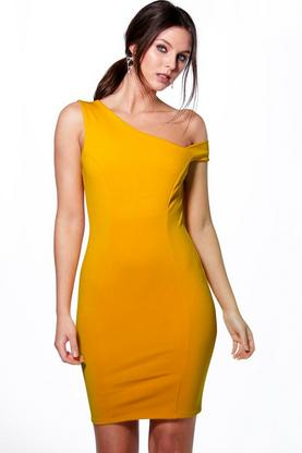 Kelly Off The Shoulder Detail Bodycon Dress