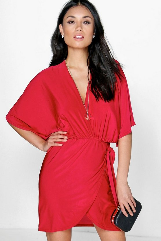 Hannah Oversized Wrap Top Bodycon Dress