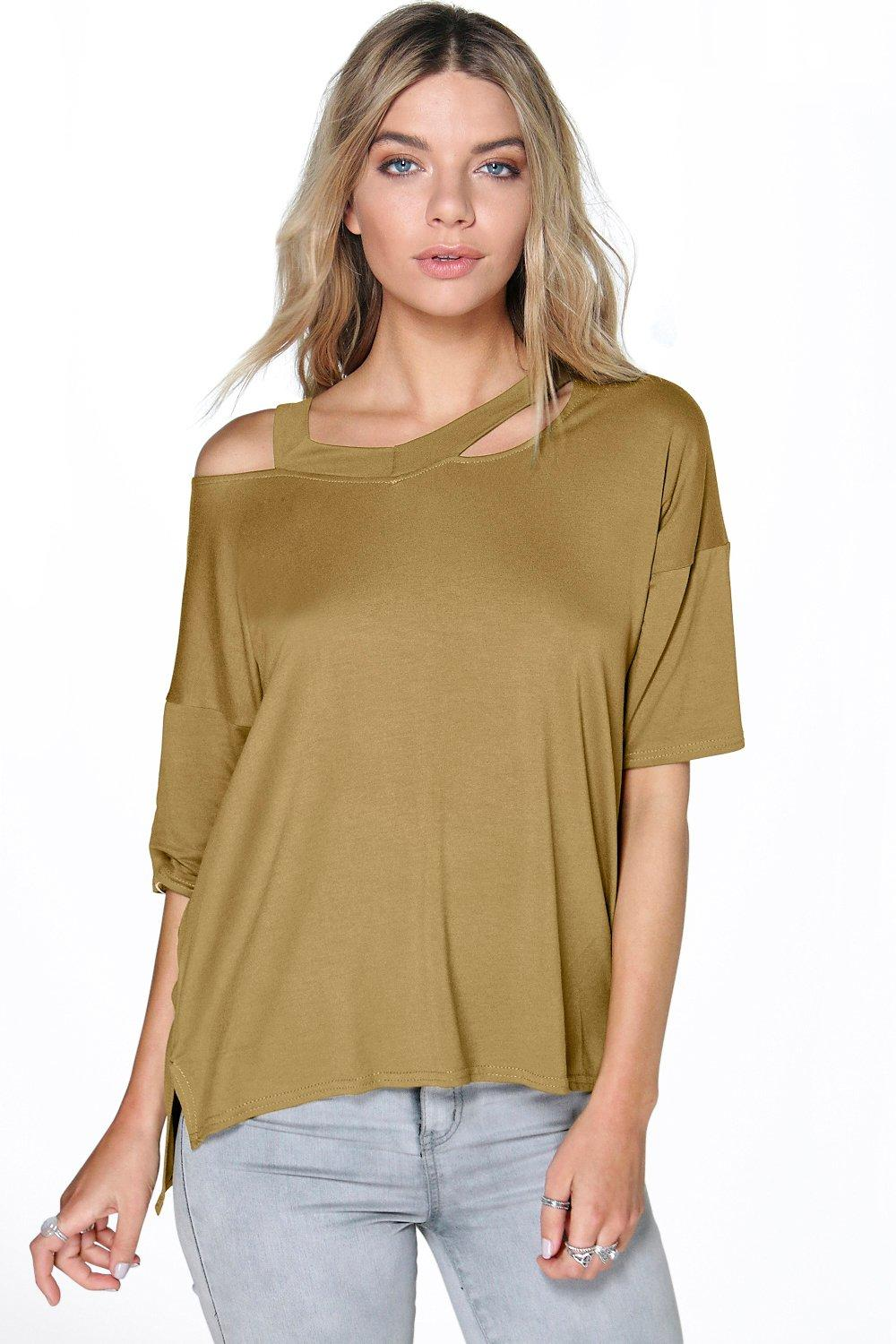 Imogen Strappy Oversized Short Sleeve Tee