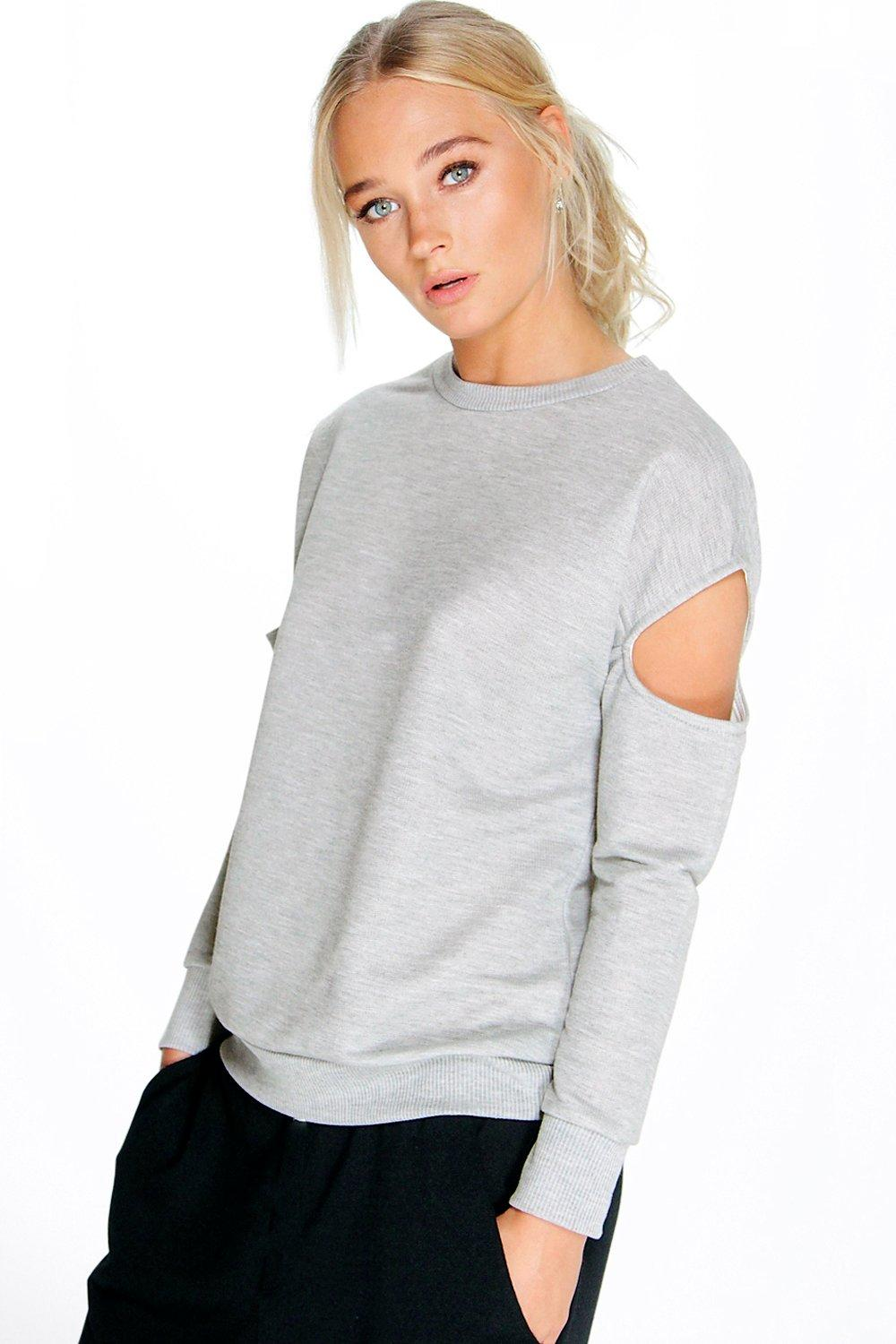 Bethany Cut Out Sleeve Sweat