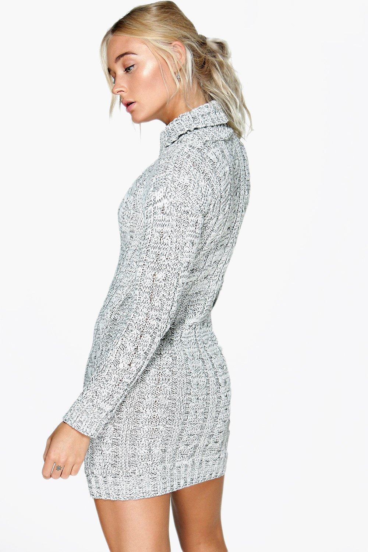 Boohoo Womens Lottie Cable Knit Jumper Dress eBay