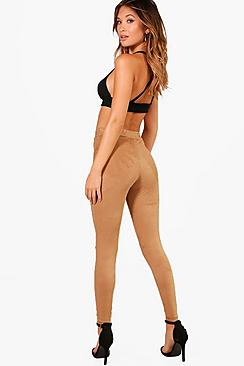 Naia Split Knee Suedette Leggings