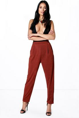 Xanthe Pleat Front Slim Leg Trousers