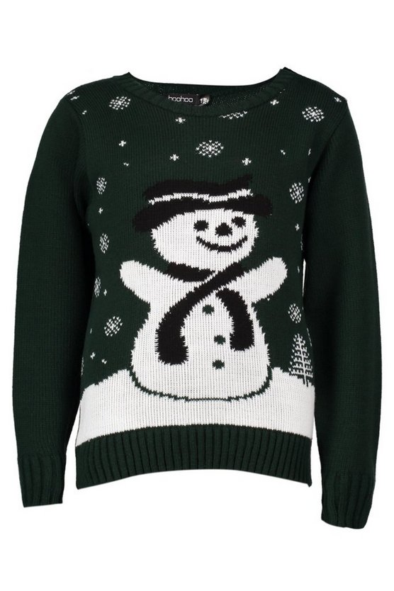 Girls Snowman Christmas Jumper