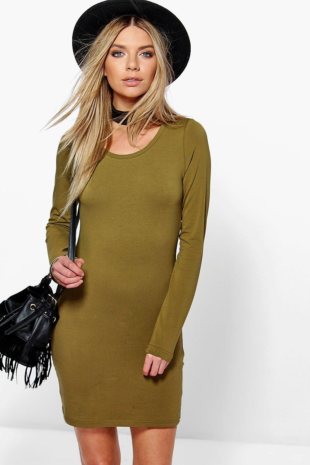 Camille Long Sleeve Jersey Bodycon Dress