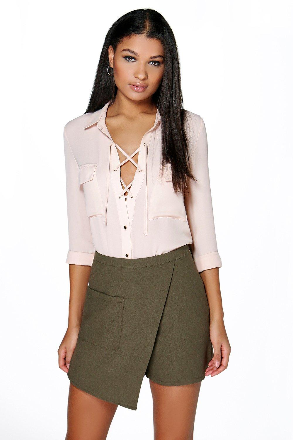 Madison Asymmetric Pocket Skort