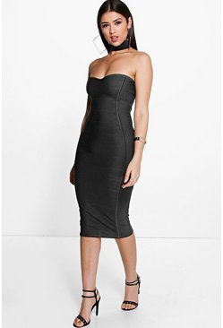 Gia Bandeau Bandage Midi Bodycon Dress