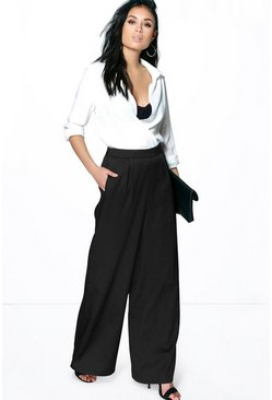 Alanna Pocket Side Wide Leg Trousers