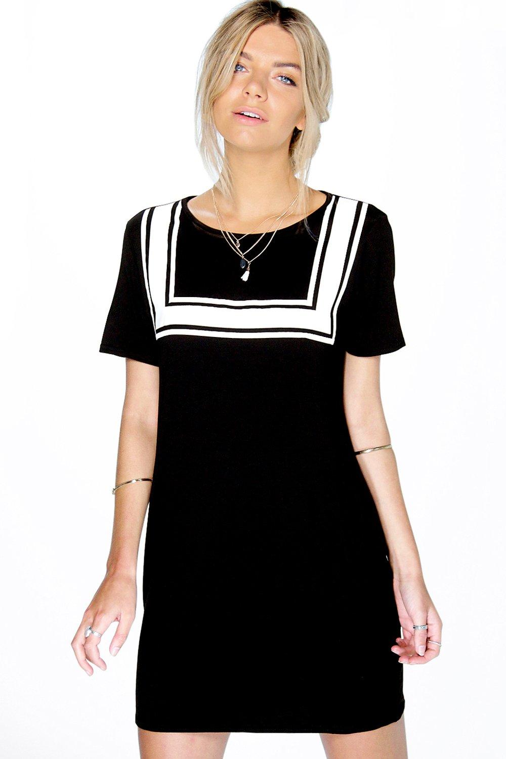 Leanne Bib Print T-Shirt Dress