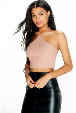 Sofia Ribbed Cut Away Crop