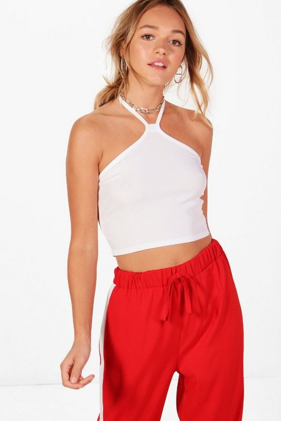 Sofia Basic Ribbed Cut Away Crop