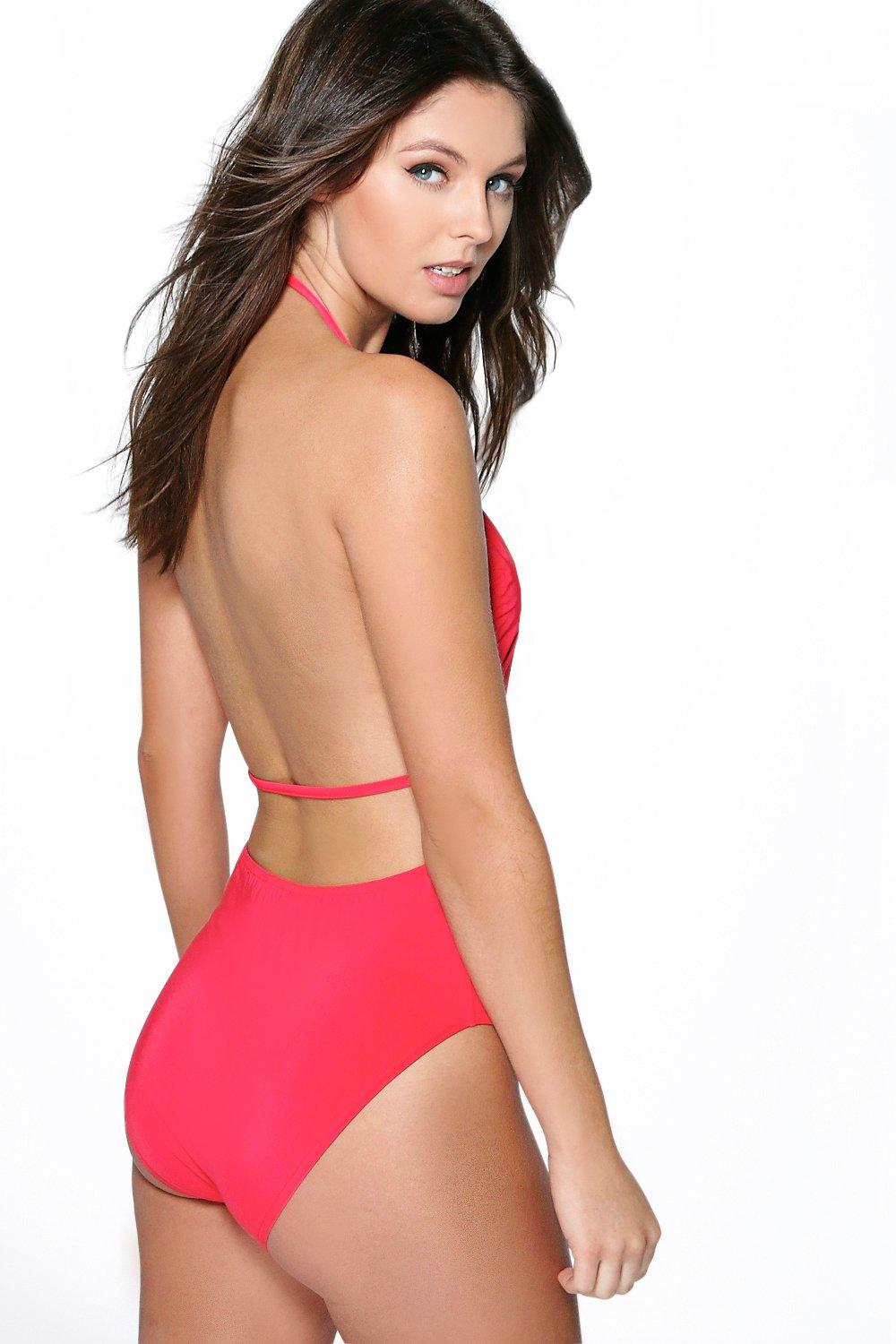 Lauren Backless Strap Slinky Bodysuit