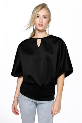 Lilly Scuba Batwing Oversized Top