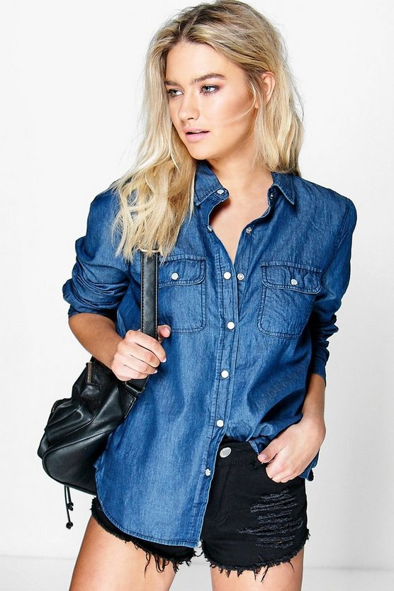 Layla Long Sleeve Denim Shirt