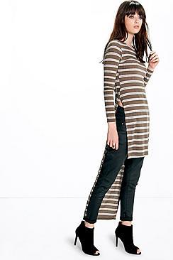 Lola Rib Stripe Maxi Rib Tunic