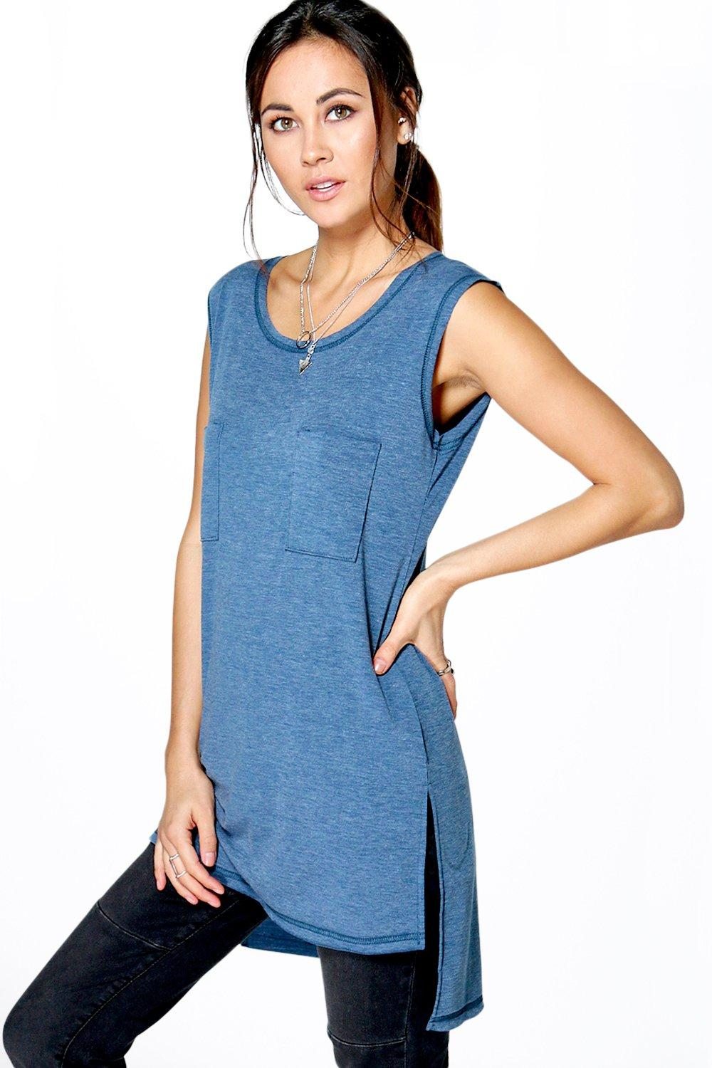 Faith Longline Double Pocket Tank