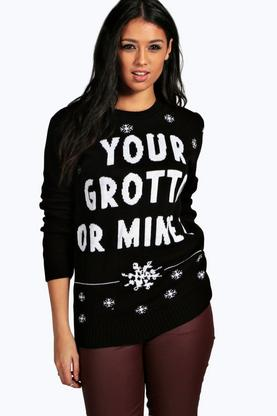 Teri Your Grotto Or Mine Christmas Jumper