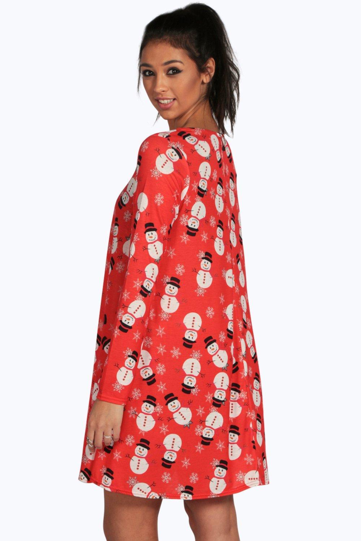 boohoo womens christmas dresses party bodycon print seasonal