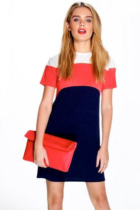 Daniella Colour Block Shift Dress