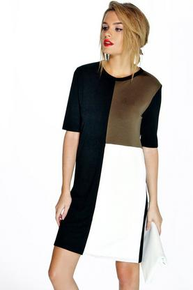 Emily Colour Block Shift Dress