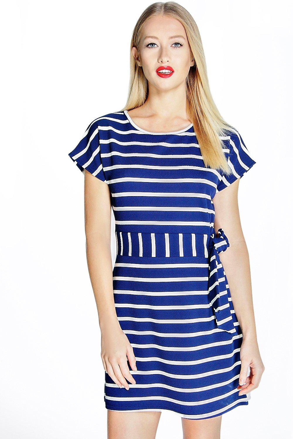 Madeline Obi Belt Shift Dress