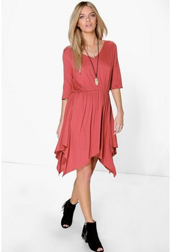 Laura Midi Asymmetric Skater Dress