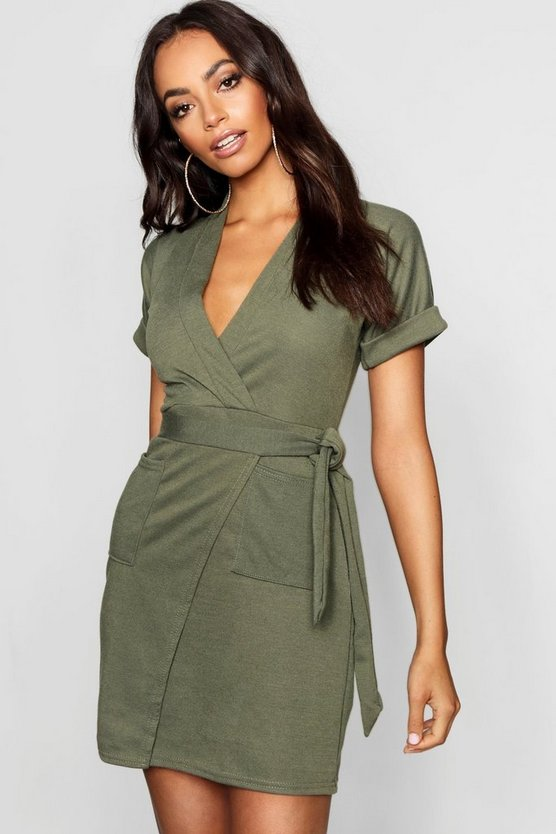 Obi Tie Wrap Dress